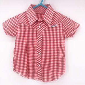 Children's Western Pearl Snap Red/White Shirt